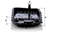 Filtre a huile de boite de vitesse MANN-FILTER H 50 001 (X1)