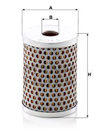 Filtre a huile de circuit hydraulique MANN-FILTER H 601/8 (X1)