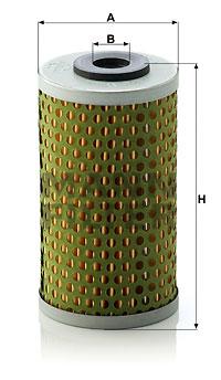 Filtre a huile de boite de vitesse MANN-FILTER H 613 x (X1)