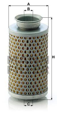 Filtre a huile de circuit hydraulique MANN-FILTER H 615 (X1)