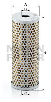Filtre a huile de circuit hydraulique MANN-FILTER H 623 (X1)