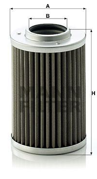 Filtre a huile de boite de vitesse MANN-FILTER H 710/1 n (X1)