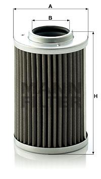 Filtre a huile de boite de vitesse MANN-FILTER H 710/1 x (X1)