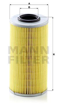 Filtre a huile de boite de vitesse MANN-FILTER H 835 x (X1)