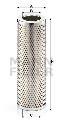 Filtre a huile de circuit hydraulique MANN-FILTER H 837 (X1)