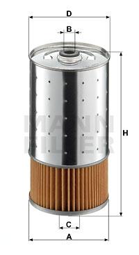 Filtre a huile MANN-FILTER PF 1050/1 n (X1)