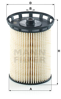 Filtre a carburant MANN-FILTER PU 10 010 z (X1)