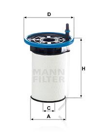 Filtre a carburant MANN-FILTER PU 7005 (X1)