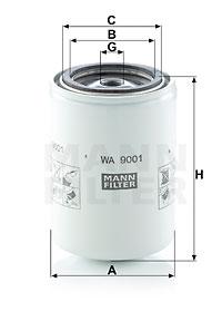 Autres filtres MANN-FILTER WA 9001 (X1)