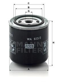 Autres filtres MANN-FILTER WA 923/2 (X1)