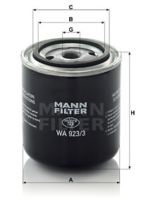 Autres filtres MANN-FILTER WA 923/3 (X1)