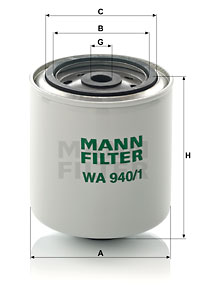 Autres filtres MANN-FILTER WA 940/1 (X1)