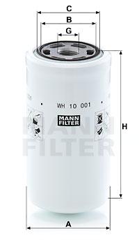 Filtre a huile de boite de vitesse MANN-FILTER WH 10 001 (X1)
