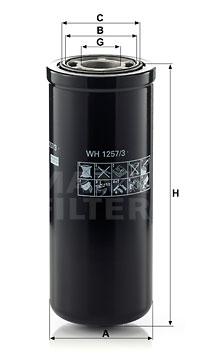 Filtre a huile de boite de vitesse MANN-FILTER WH 1257/3 (X1)