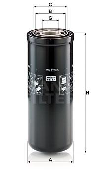 Filtre a huile de boite de vitesse MANN-FILTER WH 1257/5 (X1)