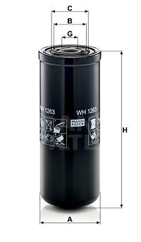 Filtre a huile de boite de vitesse MANN-FILTER WH 1263 (X1)