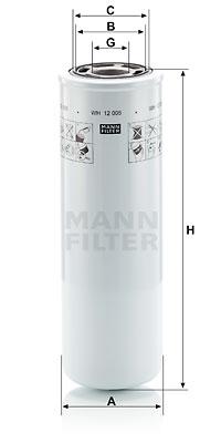 Filtre a huile de boite de vitesse MANN-FILTER WH 12 005 (X1)