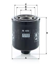 Filtre a huile de boite de vitesse MANN-FILTER WH 9002 (X1)