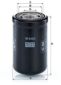 Filtre a huile de boite de vitesse MANN-FILTER WH 945/2 (X1)