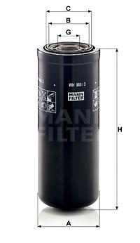 Filtration MANN-FILTER WH 980/3 (X1)