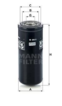 Filtre a huile de boite de vitesse MANN-FILTER WH 980/8 (X1)