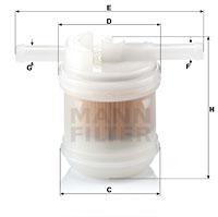Filtre a carburant MANN-FILTER WK 42/14 (X1)