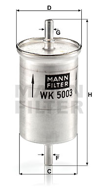 Filtre a  carburant MANN-FILTER WK 5003 (X1)