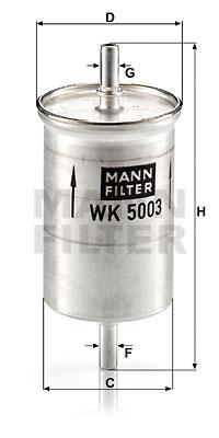 Filtre a carburant MANN-FILTER WK 5003 (X1)