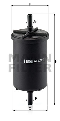 Filtre a carburant MANN-FILTER WK 6002 (X1)