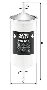 Filtre a carburant MANN-FILTER WK 613 (X1)