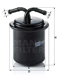 Filtre a carburant MANN-FILTER WK 711 (X1)