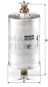 Filtre a carburant MANN-FILTER WK 726/2 (X1)