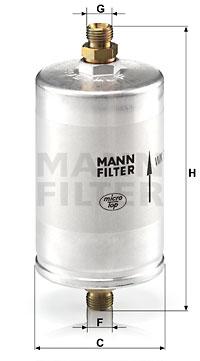 Filtre a carburant MANN-FILTER WK 726/3 (X1)