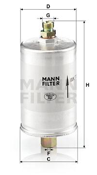 Filtre a carburant MANN-FILTER WK 726 (X1)