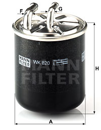 Filtre a  carburant MANN-FILTER WK 820 (X1)