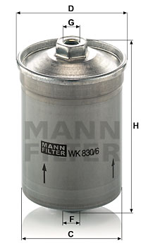 Filtre a  carburant MANN-FILTER WK 830/6 (X1)