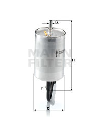 Filtre a carburant MANN-FILTER WK 832/1 (X1)