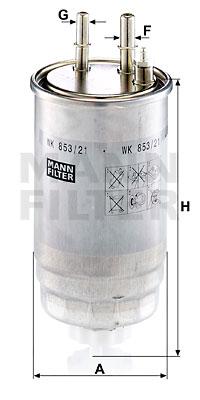 Filtre a carburant MANN-FILTER WK 853/21 (X1)