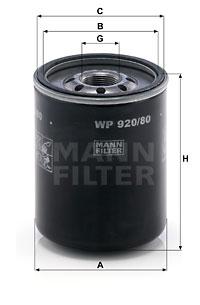 Filtre a huile MANN-FILTER WP 920/80 (X1)