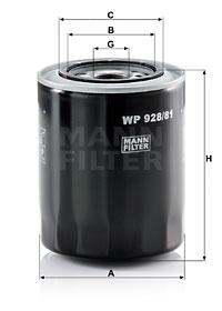 Filtre a huile MANN-FILTER WP 928/81 (X1)