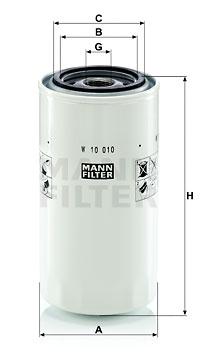 Autres filtres MANN-FILTER W 10 010 (X1)