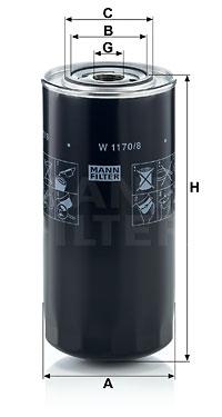 Filtre a huile MANN-FILTER W 1170 (X1)