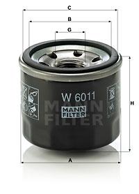 Filtre a huile MANN-FILTER W 6011 (X1)