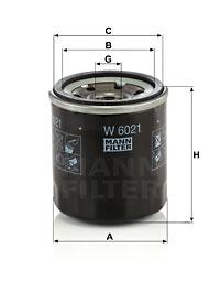 Filtre a huile MANN-FILTER W 6021 (X1)