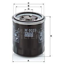 Filtre a huile MANN-FILTER W 6025 (X1)