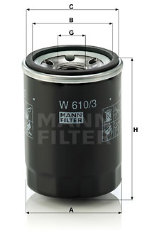 Filtre a huile MANN-FILTER W 610/3 (X1)