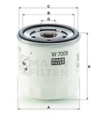 Filtre a huile MANN-FILTER W 7008 (X1)