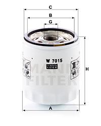 Filtre a huile MANN-FILTER W 7015 (X1)
