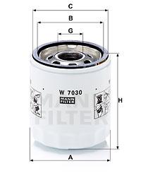 Filtre a huile MANN-FILTER W 7030 (X1)