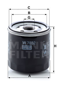 Filtre a huile MANN-FILTER W 7032 (X1)